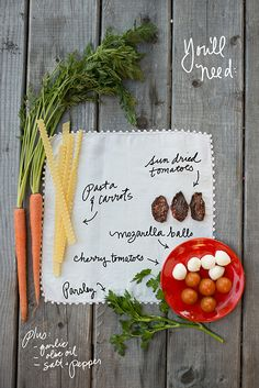 Two Tomato Carrot Ribbon Pasta recipe from The Forest Feast for #delishdish @Better Homes and Gardens