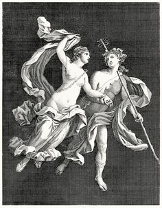Bacchus and Ariadne.  Tommaso Piroli (engraver), from Antiquités d'Herculanum vol. 3, published by Francesco and Pietro Piranesi, Paris, 1804.  (Source: archive.org)