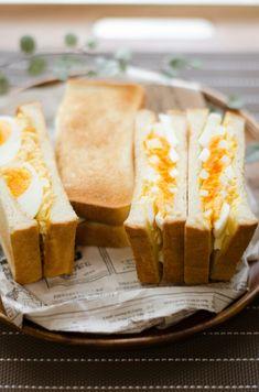 *お出かけに♪自称!おいしそうな卵サンド。笑* | 栄養士*misacoro*のおいしいブログ