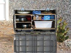 DiY Turn a plastic tub into a camp kitchen box Views From The Open Road: Our Latest Project