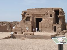 Dendera, Temple of Hathor. The temple standing on the site now is built at the Greco-Roman times.