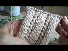 YouTube Baby Knitting Patterns, Crochet Stitches Patterns, Knitting Stitches, Stitch Patterns, Cable Knitting, Knitting Videos, Hand Knitting, Learn To Crochet, Knit Crochet
