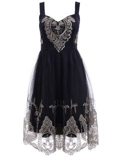 Elegant Straps Golden Lace Floral Embellished Dress For Women Gold Lace Dresses, Fall Dresses, Casual Dresses, Dress Lace, Midi Dresses, Floral Dresses, Party Dresses, Dark Fashion, Gothic Fashion