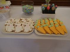 Bunny & Carrott Cookies for 1st Birthday Easter Theme