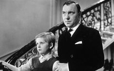 Bobby Henrey and Ralph Richardson in THE FALLEN IDOL (1948). Directed by Carol Reed.
