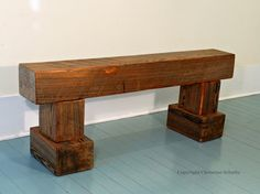 Items Similar To Salvaged Wood Log Bench Farmhouse Furniture Made In Mississippi With Reclaimed Cypress Ooak On Etsy