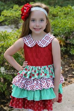 New pdf sewing pattern tonight from Create Kids Couture! Blanche's Frilly Top and Dress pattern features an optional Peter Pan collar, keyhole back, and layers upon layers of gorgeous ruffles! This dress pattern comes with 3 optional lengths.
