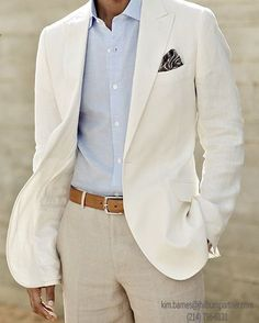 Nice suit for a Light Season man. A shirt with a more animated June sky blue would be even better.