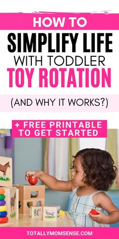 Are you tired of the toy cluttering up and taking up the entire space in your home? Having too many toys to play with at a time can be stressful for your child and also overwhelm him at times whereas a small number of toys can feel exciting, help your child concentrate longer and also help him think more creatively. In this blog post, you will find tips on how to get started with toy rotation and also a free printable toy rotation kit to use. #toyrotation #organizetoys #toys #playroom #kidtoys Kids Activities At Home, Sensory Activities Toddlers, Parenting Toddlers, Parenting Advice, Learning Activities, Single Parenting, Toddler Play, Toddler Crafts, Toddler Learning