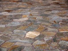 Flagstone flooring for kitchen and bathrooms