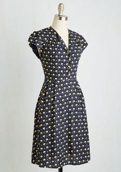 Take the Rains Dress. Exercise full control of your sweet style in this cap-sleeved frock! #blue #modcloth
