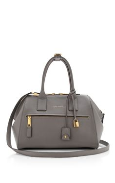 Medium Textured Incognito Bag In Light Grey by Marc Jacobs for Preorder on Moda Operandi