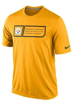 Pittsburgh Steelers Mens Nike Short Sleeve Performance Tee http://www.rallyhouse.com/nike-pittsburgh-steelers-mens-gold-legend-jock-tag-performance-t-shirt-12550189?utm_source=pinterest&utm_medium=social&utm_campaign=Pinterest-PittsburghSteelers $32.00