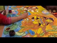 Mural Painting tutorial class in malayalam - Bijitha Praveen   LADIES HOUR 26-05-2016 - YouTube