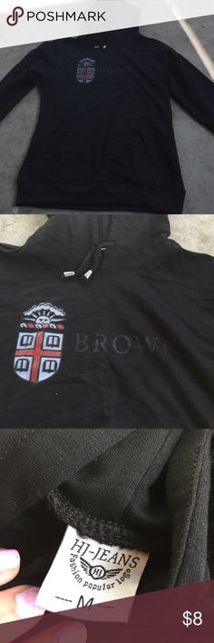Brown university hoodie Heavy weight brown university. The letters are a little faded. Hj jeans  Jackets & Coats
