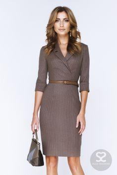 Офисные платья можно купить в интернет-магазине дизайнера. Деловое платье.   Skazkina