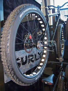 motorized surly bike   you can fit up to a 3 tire in a surly 1x1 frame... these are only ... #fatbike #bicycle