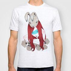 rabbit mask T-shirt by Elena Mir - $22.00