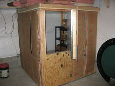 build a mini root cellar in the basement