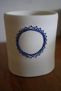 ceramic cylinder sewn spiro