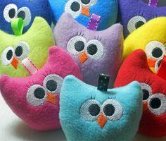 Adorable baby owl toys.