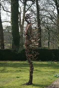 """The above sculptures are by artist Penny Hardly as part of here series """"Blown Away""""."""