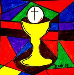 Check out student artwork posted to Artsonia from the First Communion Stained Glass project gallery at St. Religious Education, Catholic School, Stained Glass Projects, First Holy Communion, Art Lesson Plans, Art Portfolio, Art Museum, Art For Kids, Art Projects