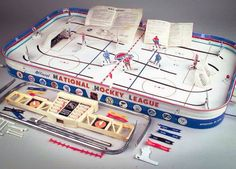 Vintage NHL Mr Hockey Game Tin Metal Table Top Chicago Pittsburgh Sport in Toys & Hobbies, Games, Board & Traditional Games 1960s Toys, Retro Toys, Vintage Toys, 1970s, Childhood Toys, Childhood Memories, Sweet Memories, Board Game Design, Vintage Board Games