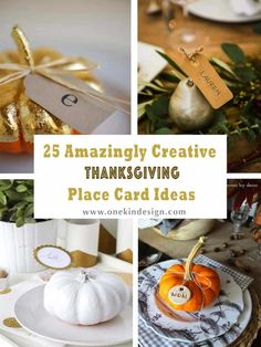 25 Amazingly Creative Thanksgiving Place Card Ideas