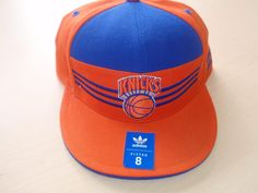 N.Y. Knicks 3 Stripe Adidas Fitted Hat
