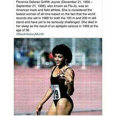 Flo-Jo, fastest woman of all time. Her records still stand! Flo Jo, Big Sean, Trey Songz, Black Girls Rock, Black Girl Magic, Ryan Gosling, Rita Ora, Sierra Leone, Nicki Minaj