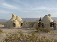 This is a completed cal-earth structure built by a man and his daughters. It sits in the desert by Joshua Tree. Amazing feel to this place... a little Star Wars but all earthen.  By the way, the builders bought the plans, watched a few videos, and started building.  THAT'S empowerment.