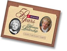 50 Years of Woman Leadership.  The extraordinary story of how Ebba Hoffman and daughter Sharon Avent guided Smead into a global office products powerhouse unfolds in this 50th anniversary booklet.  www.facebook.com/cluborganomics  www.twitter.com/smeadorganomics  www.youtube.com/smeadorganomics  www.Gplus.to/Smead  www.pinterest.com/smeadorganomics
