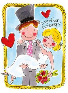 Art ~ by Blond Amsterdam Happy Anniversary Clip Art, Wedding Anniversary Cards, Wedding Album, Valentines Day Drawing, Valentine Day Love, Amsterdam Holidays, Blond Amsterdam, Happy B Day, Painting For Kids