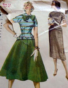 Lovely Vtg 1950s Dress Sewing Pattern 12 30 | eBay
