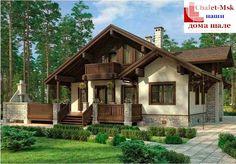 Проект дома в стиле шале chl-14-09 общий вид