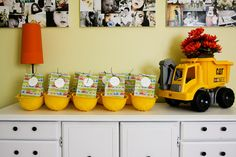 Does your kid love trucks?  Check out this cute idea? #Boys #Birthday #Construction
