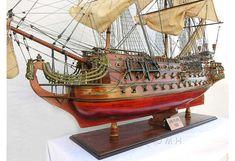 Large Boat Models, Caribbean Pirate Ship Model, James Cook's HMS Bark Endeavour Model, Display Case for Large Model Ship