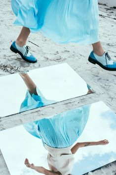 Sky blue brogues by