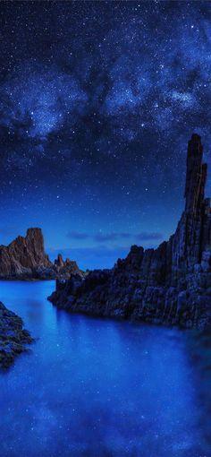 Night Starry Sky-iPhone Wallpaper