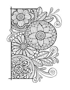 Adult Colouring Page:Cirlces and Swirls by LittleShopTreasures