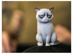 Grumpy Cat figurine in Full Color Sandstone! I´ve printed it once .. and it was awful! I´m sure you will hate it .. well, I hope you will not :)
