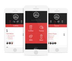 Mobile Flat Design - Restaurant Website - Andrew Lohman