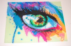 WOW, this is amazing! Rainbow Eye Perler Bead picture #3 | by lacy leather