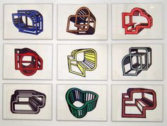 "Title : "" Cages 2"" Acrilic on cut paper  pasted on carboard. Poliptych. 9 pieces of 70 x 50 cm each one.  Signed: Alfonso Cintado 2010. 5500 $"