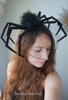 WIDOW Huge Scary Creepy Black Widow Spider by KirahleyKreations
