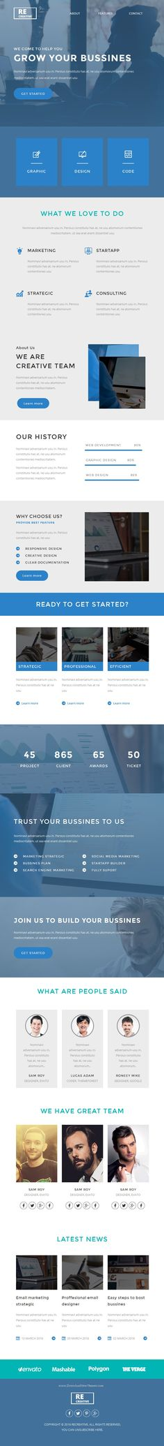 Recreative is modern and minimalism design Responsive #email #template for multipurpose business #viral marketing download Now.