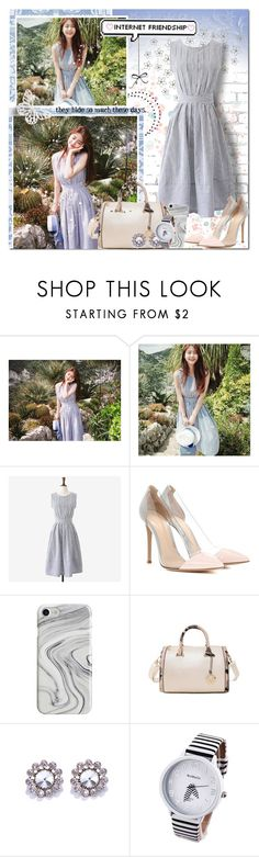 """Spring Sweetheart // Rosegal"" by angelstylee ❤ liked on Polyvore featuring WALL, Gianvito Rossi and Recover"