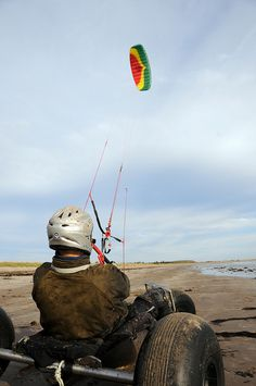 Kite Buggying on Conrad Beach, Nova Scotia. Have to try this one day. Looks like a blast!