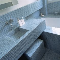 I really, really like this.  I wonder how the sink is waterproofed - must be a bottom kit.  Love it.